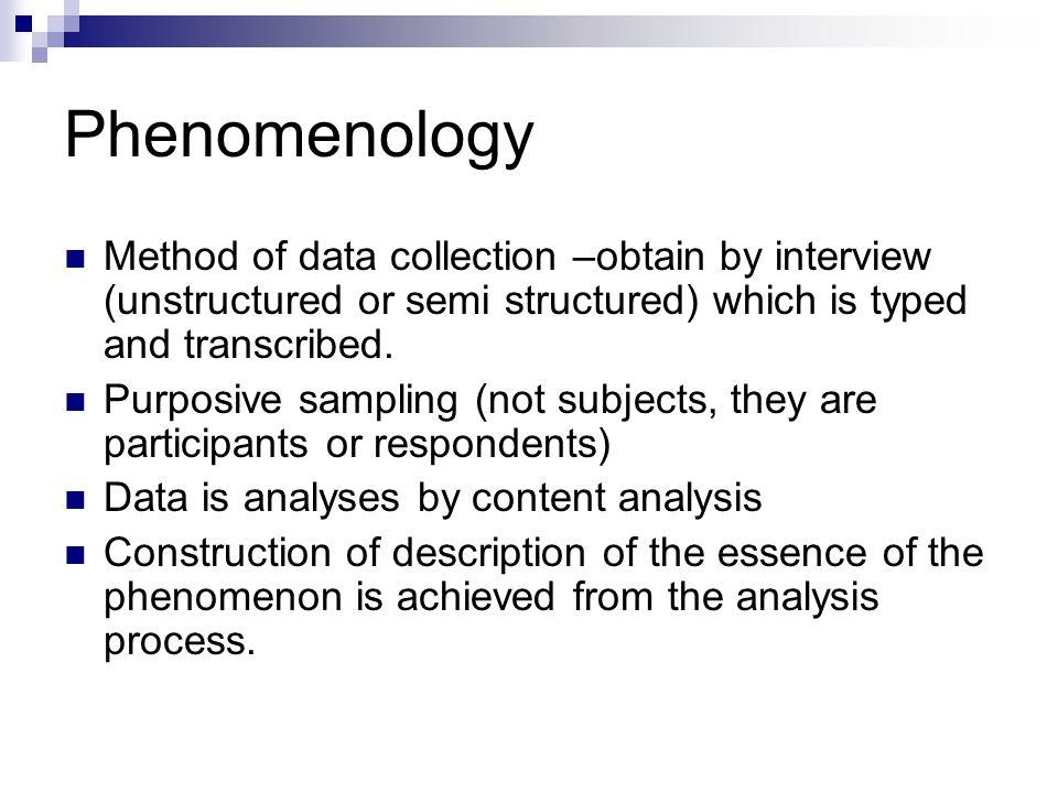 phenomenology research methods