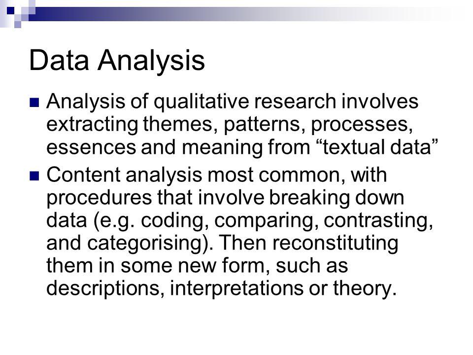 data analysis  techniques of qualitative data analysis