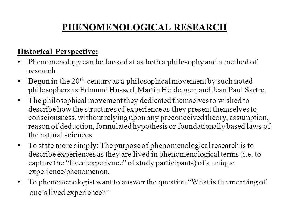 phenomenological research - Pertamini.co