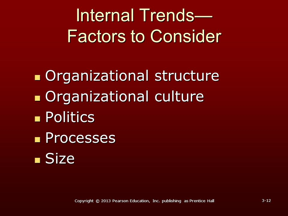 Internal Trends— Factors to Consider