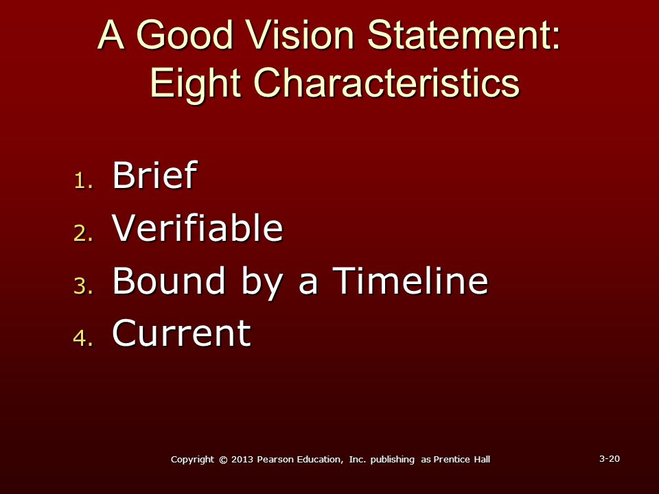 A Good Vision Statement: Eight Characteristics