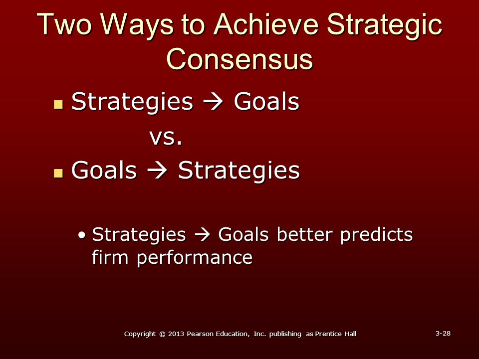 Two Ways to Achieve Strategic Consensus