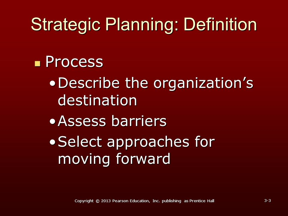 Strategic Planning: Definition