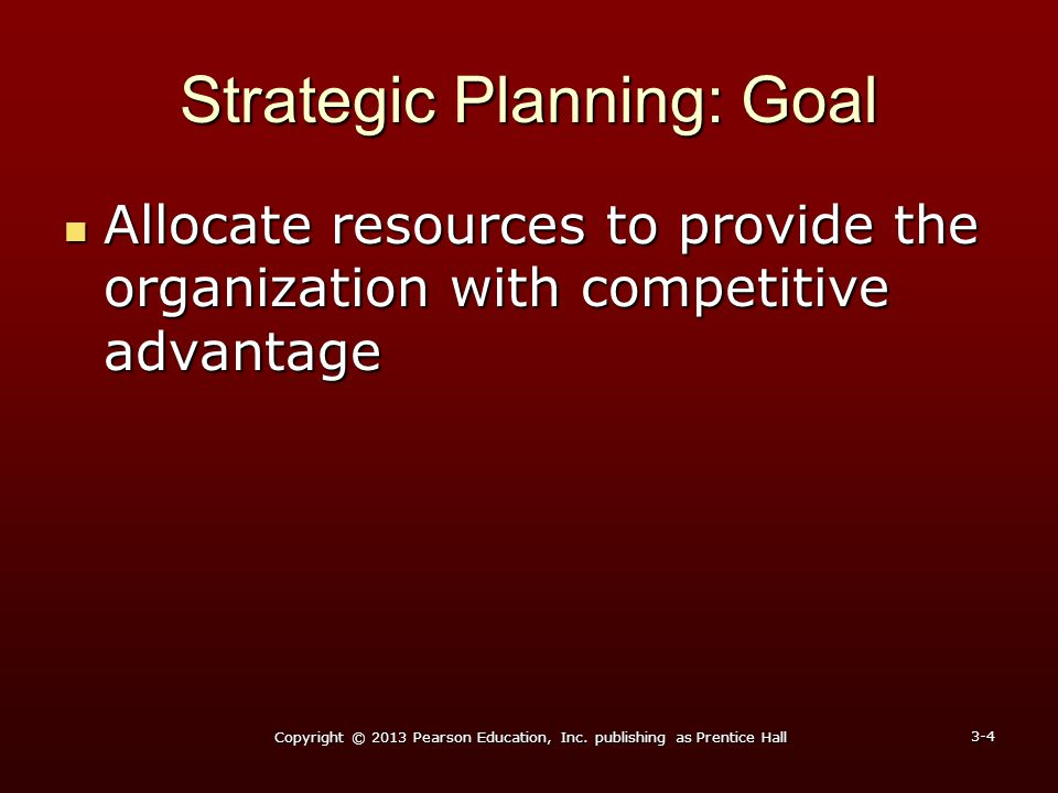 Strategic Planning: Goal