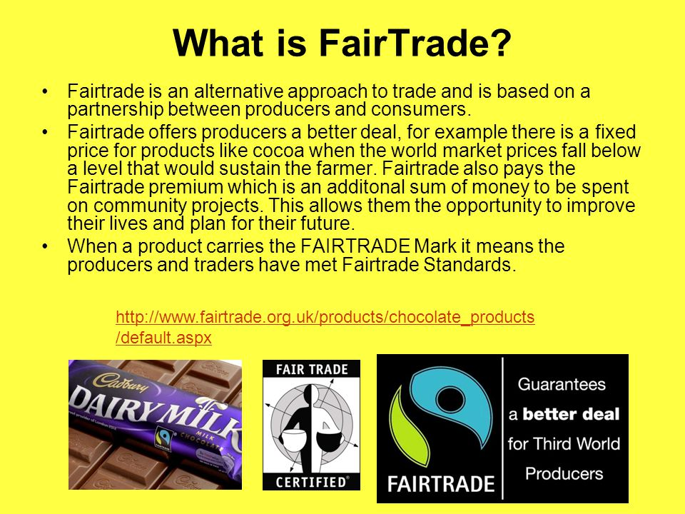 history and development of fair trade The fair trade scandal: marketing poverty to benefit the rich  a senegalese development economist working with the left-wing rosa luxemburg foundation of germany  there is a long history.