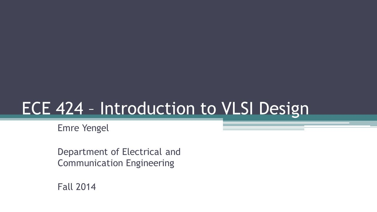 Introduction to vlsi design by fabricius