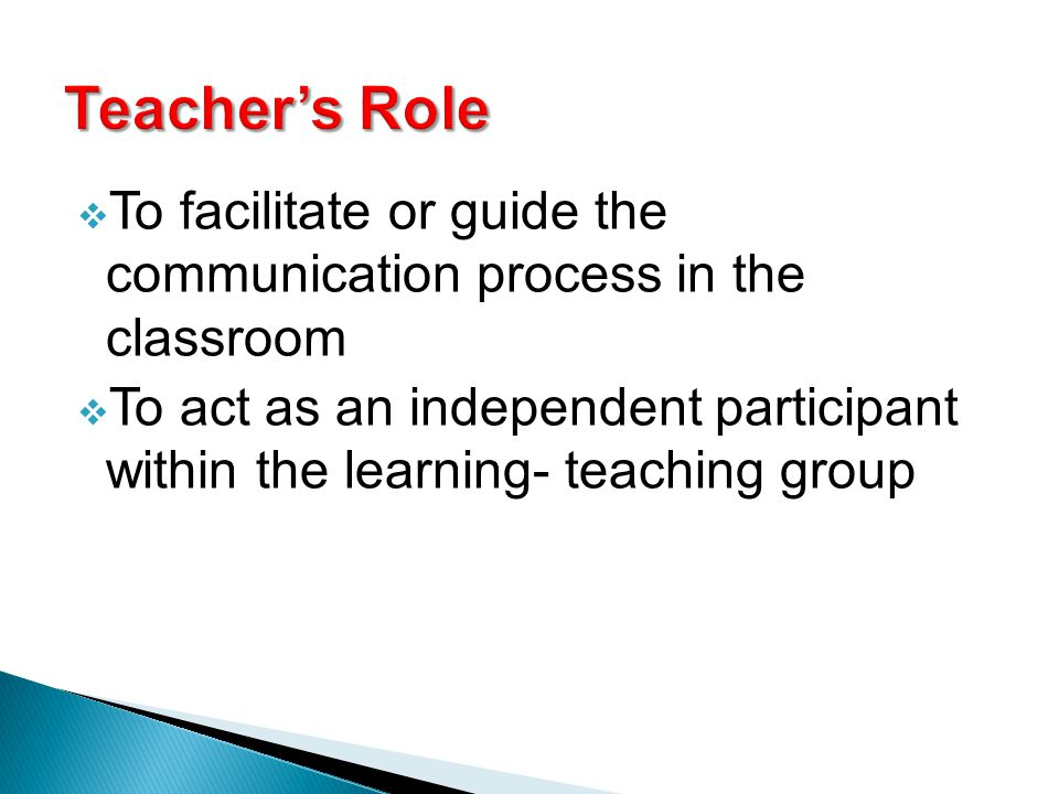 teaching role