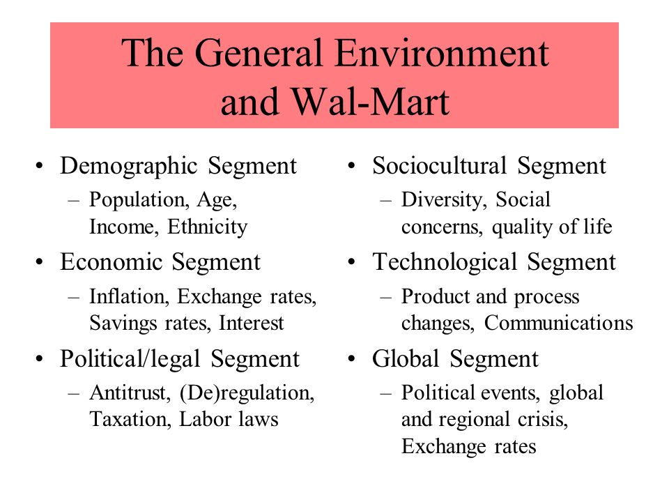 wal mart and legal and regulatory forces Gregg spotts, wal-mart: the high costs of law price (the  forces 6 regulation is both a thing, and, as a system of constraints on human behavior.