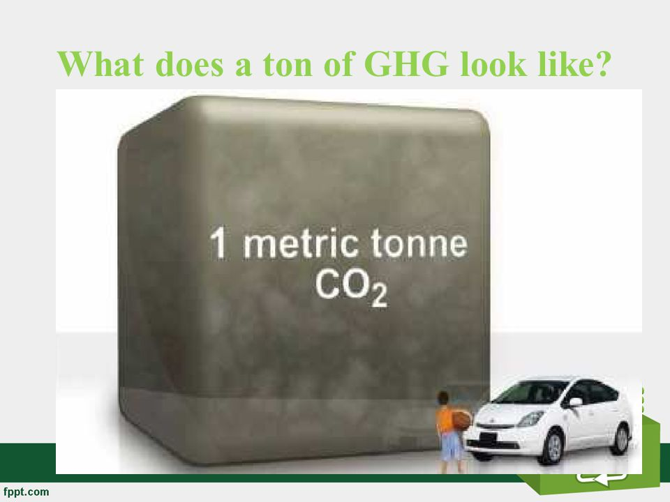 What does a ton of GHG look like