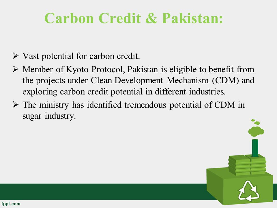 Carbon Credit & Pakistan: