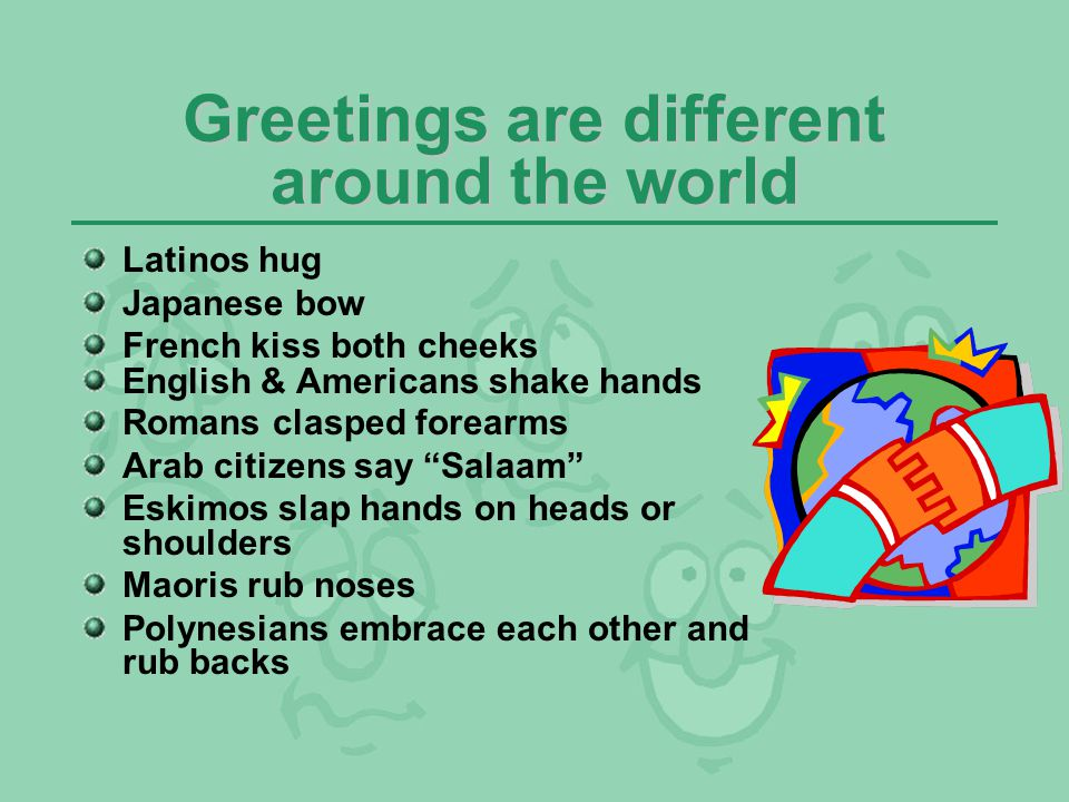 Greetings are different around the world