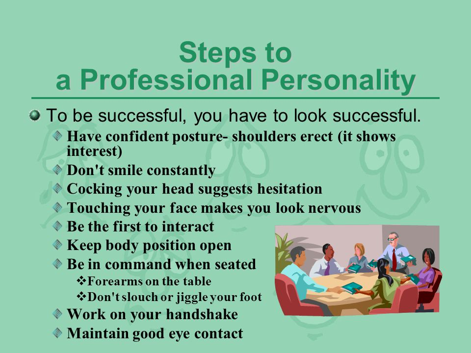 Steps to a Professional Personality