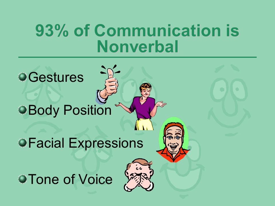 93% of Communication is Nonverbal