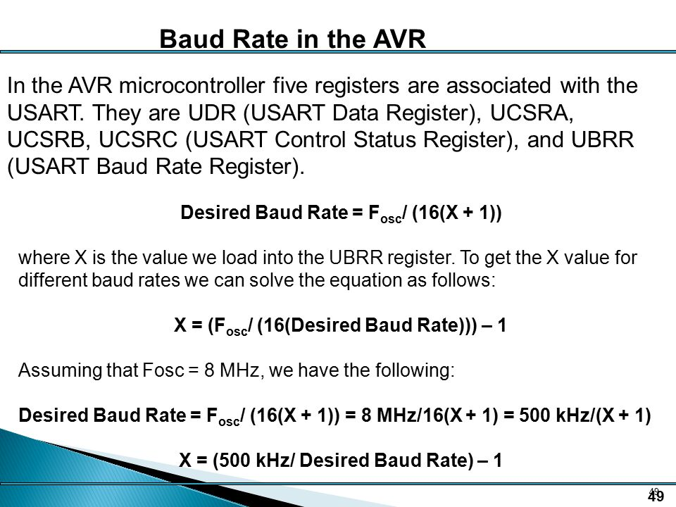 Ee138 serial communication ppt download - How to determine the baud rate of a serial port ...