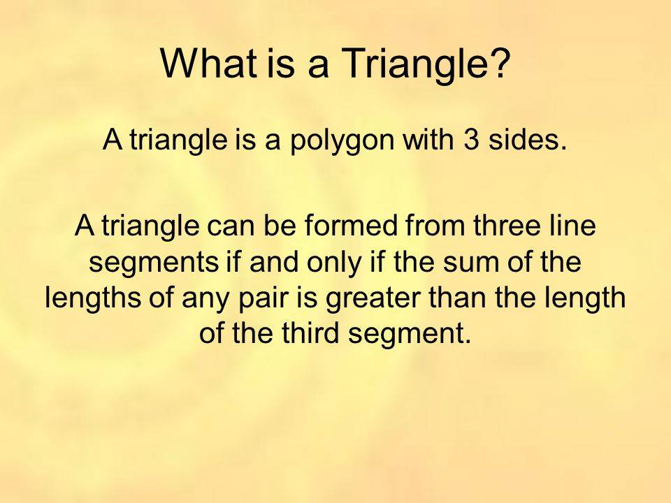 What is a Triangle