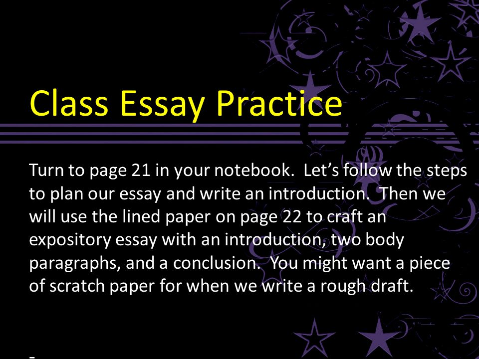 expository essay writing practice