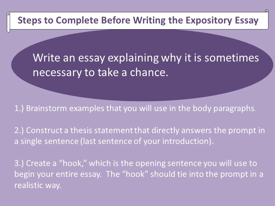 A thesis statement of na expository essay