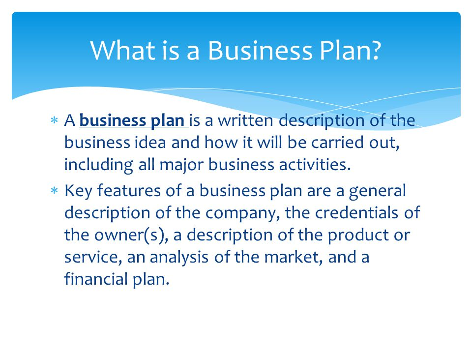 Management Section Of Business Plan