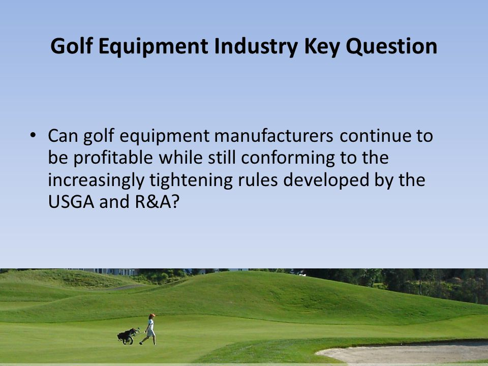Competition in the golf industry 2009