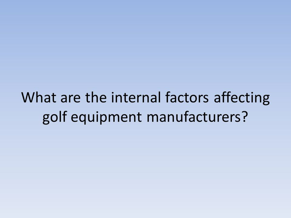 Global Golf Equipment Manufacturing Market 2018 – Industry Analy - KXXV Central Texas News Now