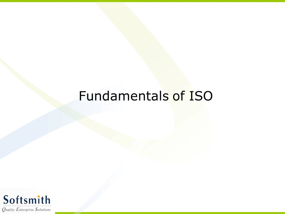 Fundamentals of ISO