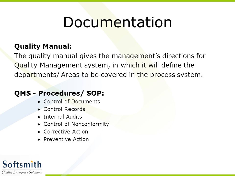 Documentation Quality Manual:
