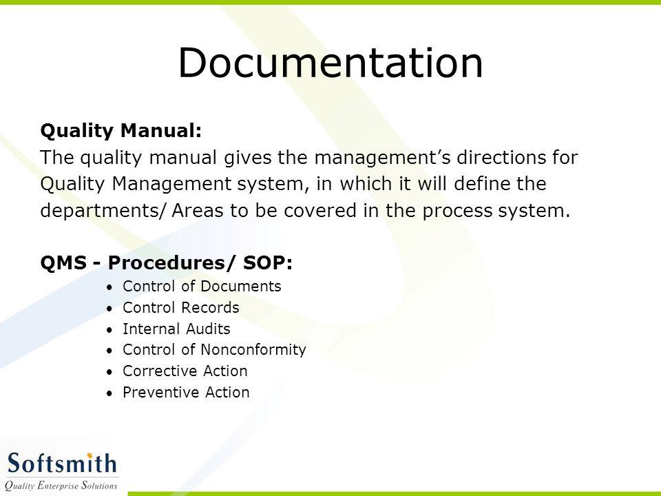 Documentation Quality Manual: