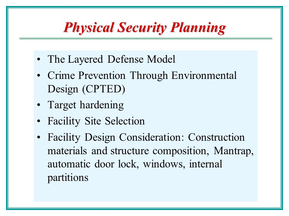 crime prevention plan
