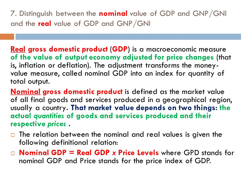 Difference Between Nominal and Real Values