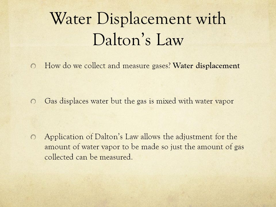 Gas and Pressure ppt video online download – Daltons Law Worksheet