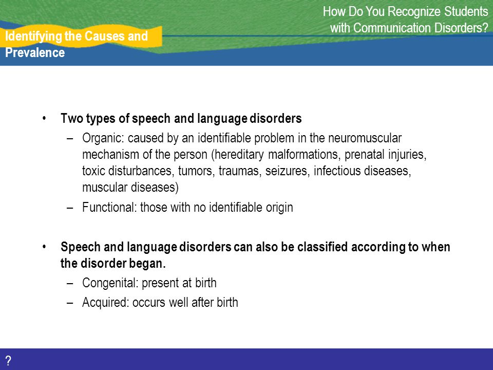 How Do You Recognize Students with Communication Disorders