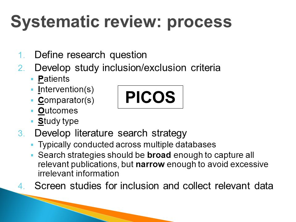 systematic literature review methods The main differences between traditional reviews and systematic reviews are variable evaluation of study quality or method systematic literature review x.