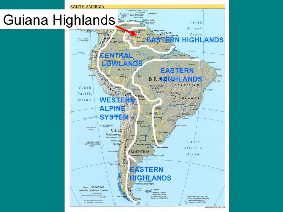 Guiana Highlands Map Related Keywords & Suggestions - Guiana ...