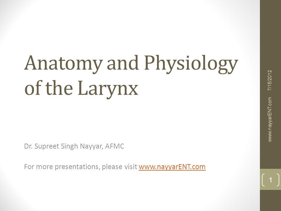 Larynx anatomy video