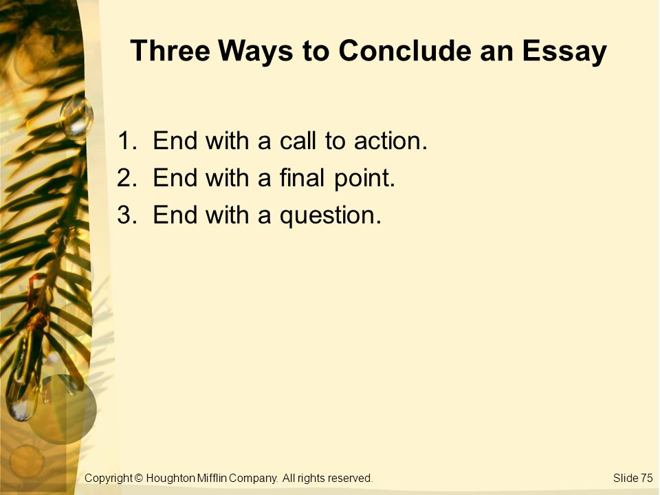 two ways to conclude an essay
