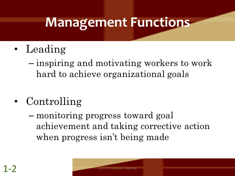 Management Functions Leading Controlling 1-2