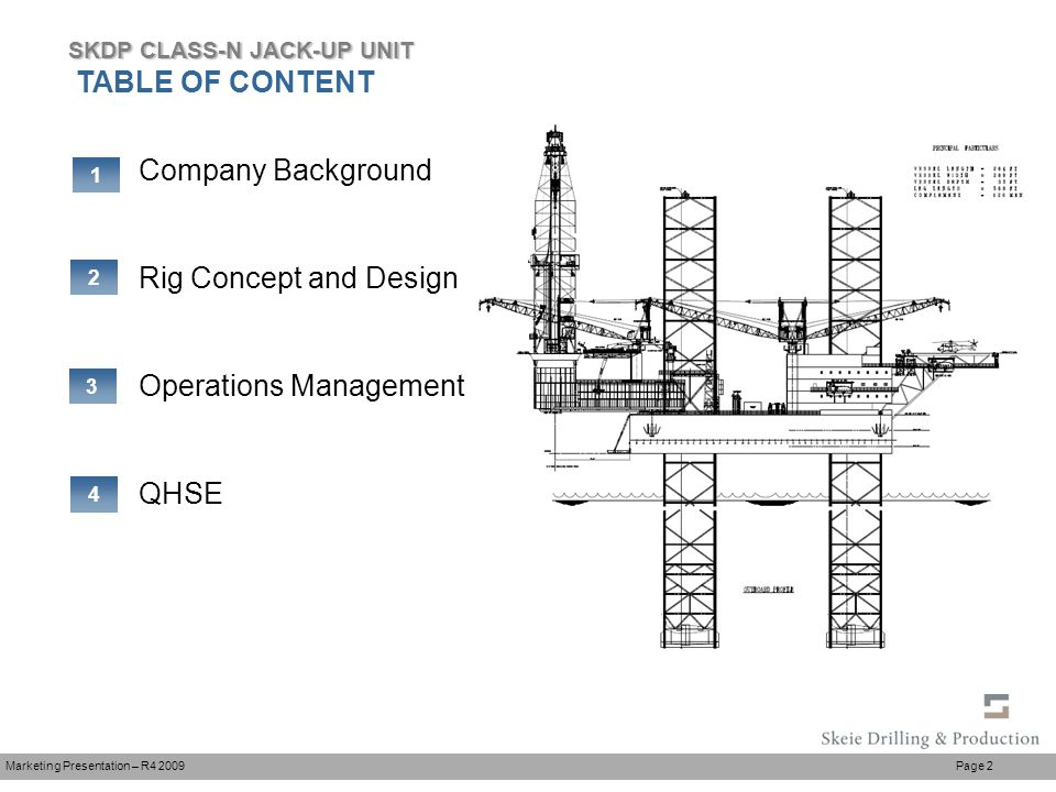 N Class Harsh Environment Jack Up Drilling Production