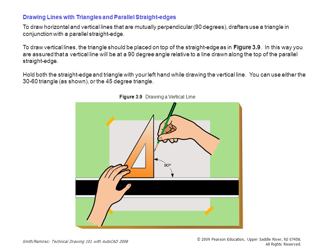 Drawing Lines With Triangle Combination : Traditional drafting tools and techniques ppt download
