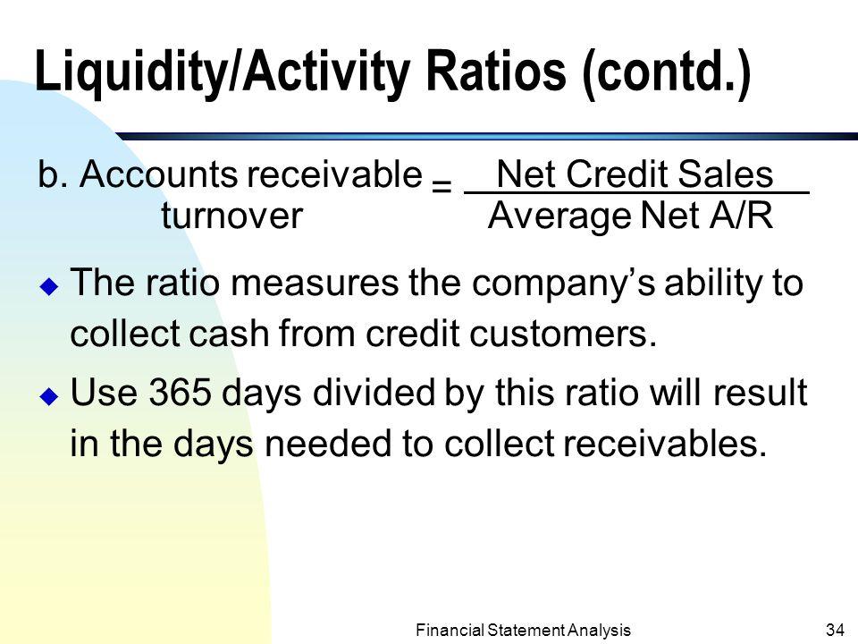 liquidity ratios and activity ratios Financial ratios for the commercial banking  financial ratios for the commercial banking industry:  of commercial bank activity captured in ratios and.