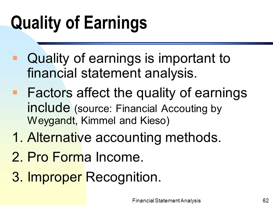 an analysis of the methods of financial accounting Financial ratios for financial statement analysis book value of equity per common share = book value of equity for common stock / number of common shares.