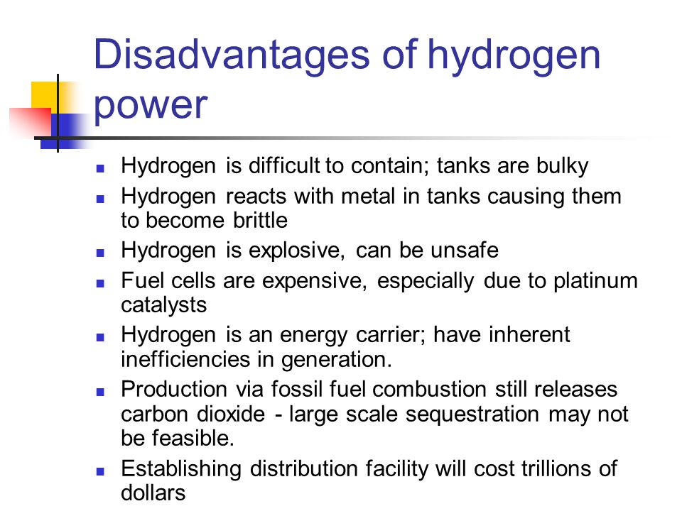 an overview of hydrogen power An overview of hydrogen storage methods vayartys1 and mv  rwurster, overview of existing experience in  dhart, hydrogen power:.