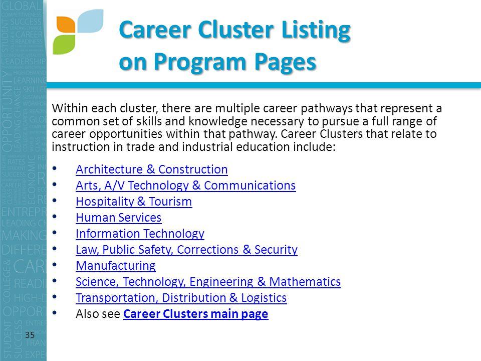 Implementing Career Clusters: Virginia's Best Practices ...