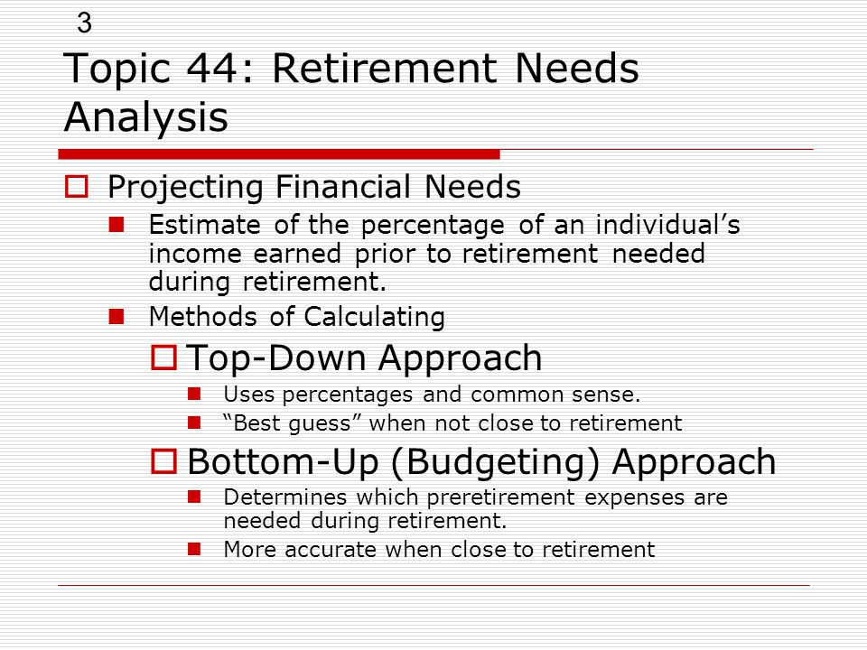 Topic 44: Retirement Needs Analysis - Ppt Video Online Download