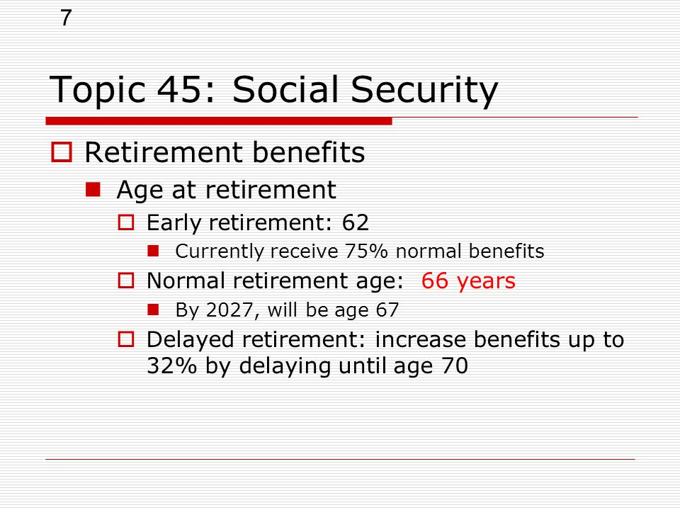 an analysis of the benefits of early retirement What is the best age to start receiving social security retirement benefits to help make that decision, this calculator compares the cumulative social security retirement benefits paid beginning at three different starting ages, and estimates how long it takes for the cumulative benefits begun at a later age to equal or  break.