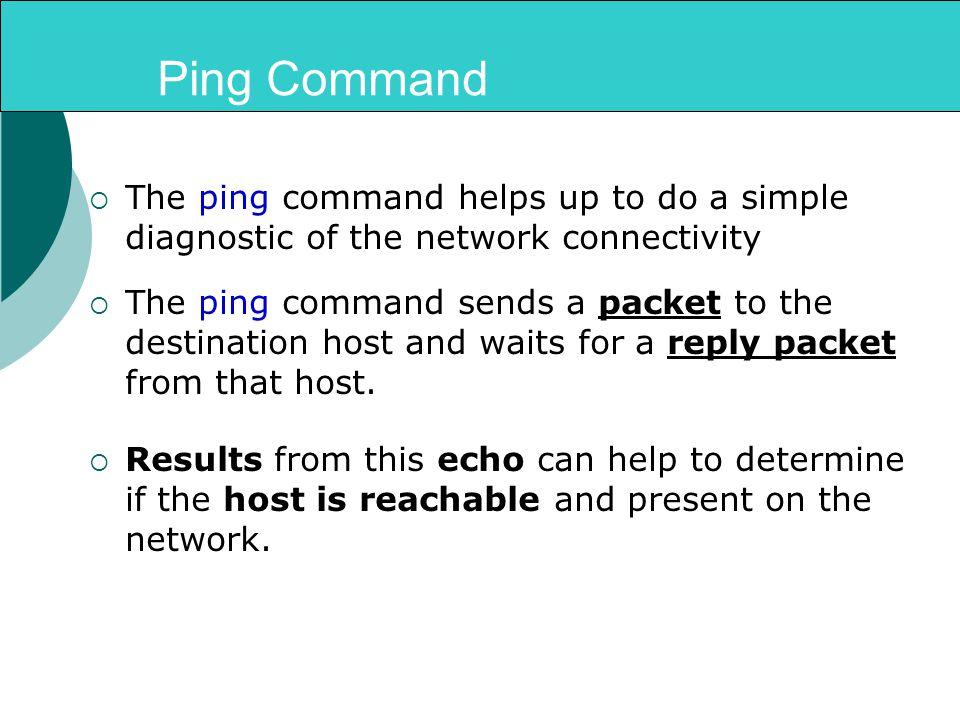 windows network diagnostic commands pdf