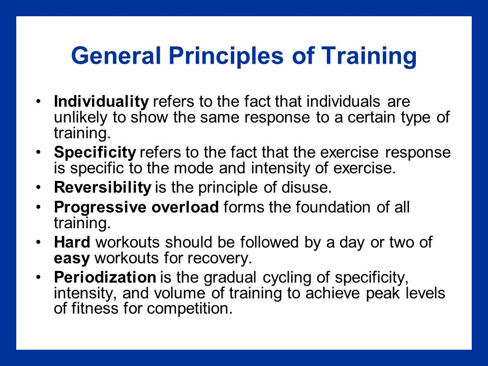 exercise principles periodization specificity and training for muscle groups essay Since then, the terms intermittent exercise, repetition training, and interval  training  regarding the adaptive specificity of interval and continuous training   however, a few single-group design studies involving endurance athletes   response to periodization of training intensity and volume in elite spanish u23  cyclists.