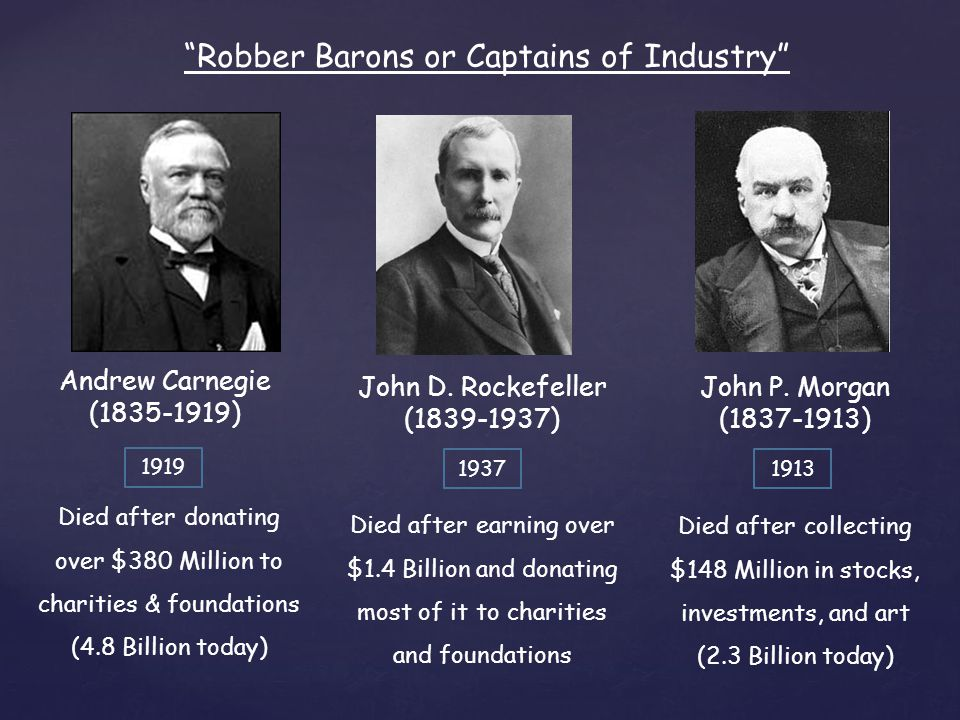 john d rockefeller as a captain of industry essay Directions: read about captains of industry and robber barons below  there  is a process to writing a persuasive essay and this lesson will take you through   choose one of the following: cornelius vanderbilt, john d rockefeller, andrew.