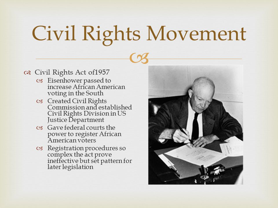 Civil Rights Movement Civil Rights Act of1957