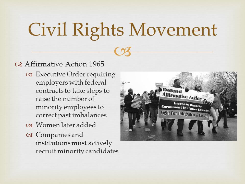 Civil Rights Movement Affirmative Action 1965