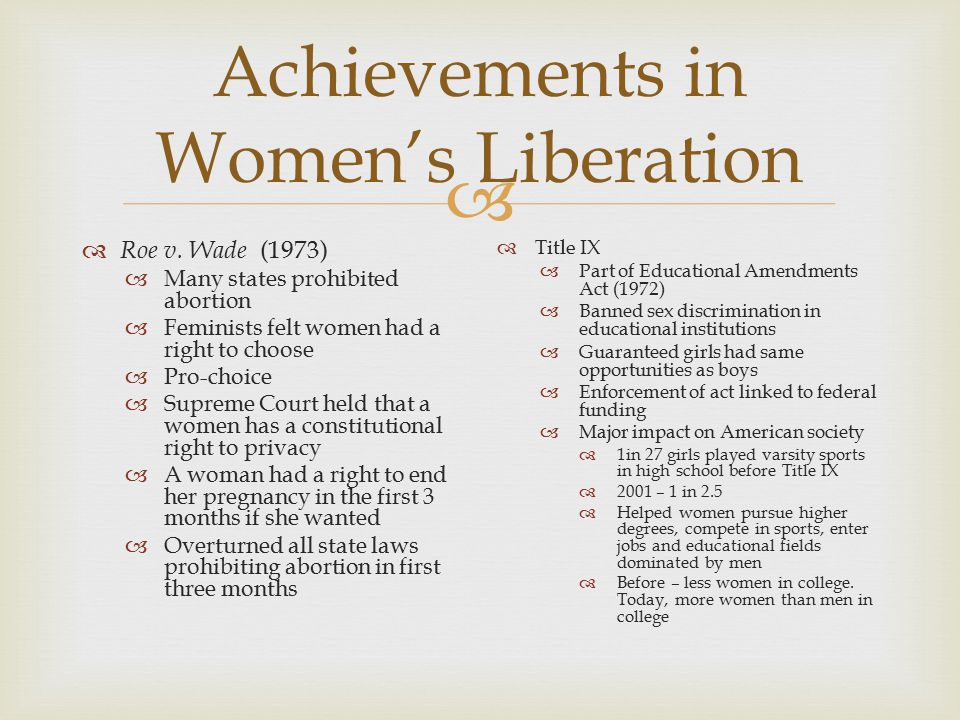 The many benefits of title ix of the educational amendment act of 1972 for american women